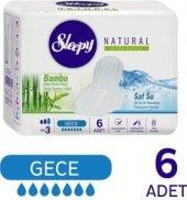 Sleepy Natural Ultra Hassas Hijyenik Ped Gece (6 Adet)