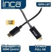 ınca Idph 18t Displayport To Hdmı Kablo 1.8 Mt