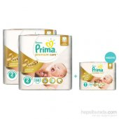 Prima Bebek Bezi Premium Care Jumbo 2li Paket 2 Beden (Tekli Pak