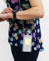 Samsung Galaxy S4 Chanel Parfüm Şişesi Çantalı Telefon Kılıfı Şeffaf
