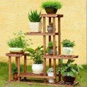 8 Raflı Balkon Saksı Standı Bahçe Saksılık Çiçek R...