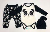 Profed Baby 6 Ay Pandalı Şapkalı Erkek Badi Takım