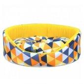 Pet Pretty Oval Simit Yatak Kumaş Mix Karışık Renkler + Hediye