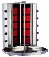 Tüplü Döner Makinası Doğalgazlı 10 Radyan Camlı V Model
