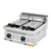 Endüstriyel Elektrikli Fritöz Kızartma Makinesi Çiftli 16l