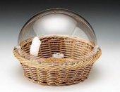 Hasır Ekmek Sepeti Saklama Kutusu Kapaklı Ekmeklik 35x10 Cm