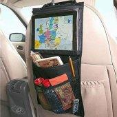Araç İçi Koltuk Arkası Tablet Tutucu Cepli Organizer Düzenleyici Koltuk Arkası Cep