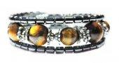 Alnis Atelier Kaplan Gözü Doğal Taş Spiralli Bileklik