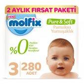 Molfix Pure&soft 3 Beden Midi 2 Aylık Fırsat Paketi 280 Adet