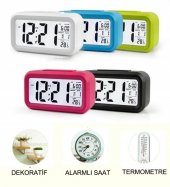 ışıklı Ve Termometreli Dijital Masa Saati