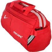 Unisex Spor Ve Seyahat Çantası Küçük Boy Çanta Kırmızı Renk Faturalı Aynı Gün Kargo