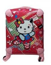 Kitty Kedi Baskılı Kız Çocuk Valizi
