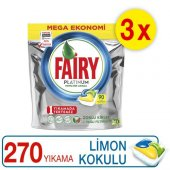 Fairy Platinum Bulaşık Makinesi Kapsülü Limon Kokulu 90x3 Yıkama