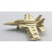 Ahşap F 18 Savaş Uçağı Maketi 3d Puzzle