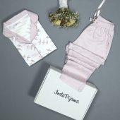 Luscious Rosy Exculusive Collection Önden Düğmeli İpek Saten Pijama Takımı