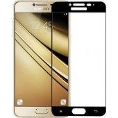 Samsung Galaxy C7 Pro Tamperli Tam Kaplayan Kırılmaz Cam Tam Ka