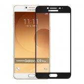 Samsung Galaxy C9 Pro Tamperli Tam Kaplayan Kırılmaz Cam Tam Ka