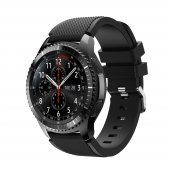 Samsung Gear S3 Frontier Ve Classic Silikon Kordon Siyah