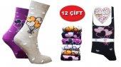 özmen Bayan Kaliteli Pamuklu Soket Çorap 12 Çift