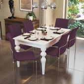 Alkur Home Maya Yemek Masa Takımı Clas 9 Renk Kumaş Seçeneği