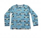 Racing Desenli Erkek Çocuk Uzun Kollu Tişört