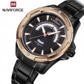Naviforce Lüks Tasarım Çelik Saat Speed Gold Mod Erkek Kol Saati