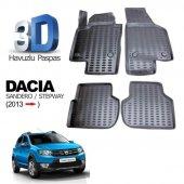 Dacia Sandero 2012 Sonrası 3d Siyah Havuzlu Paspas