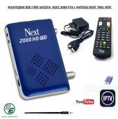 Next 2000 Hd Fta Uydu Alıcısı +next Wifi Aparatı Antenli