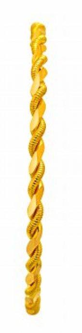 25 Gram 22 Ayar Altın İkili Burma Bilezik 6.4
