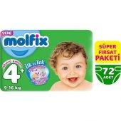 Molfix Bebek Bezi 4+ Beden Maxi Plus Süper Fırsat Paketi 72 Adet