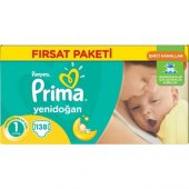 Prima Bebek Bezi Yenidoğan Fırsat Paketi 1 Beden 138 Adet