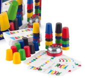 Eğitici Renkli Neşeli Süper Pratik Bardaklar Akıl Ve Zeka Oyunu