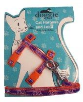 Doggie Gülücük Kedi Göğüs Tasması 22 36 Cm Turuncu