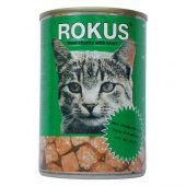 Rokus Adult Cat Yürekli Kedi Konserve Mama 12 Adet