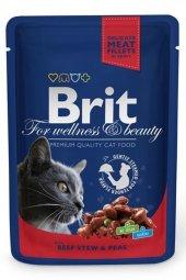 Brit Premium Cat Pouches With Beef Stew & Peas 100...