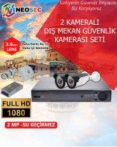 2 Kameralı (Dış Mekan) Güvenlik Kamerası Seti Hd1080p