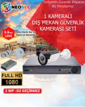 1 Kameralı (Dış Mekan) Güvenlik Kamerası Seti