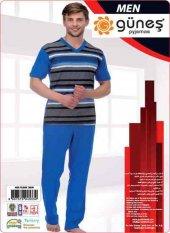 Güneş 4533 Kısa Kol Erkek Pijama Takımı