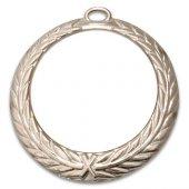 Madalya 7.00cm Çelenkli Gümüş Lüks , Süblimasyon Transfer Baskı