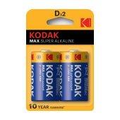Kodak Max Alkalin Blister 2 Adet Büyük Pil