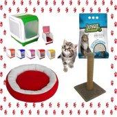 Kedi Tuvalet Seti Ve İhtiyaçları 4lü Paket + Hediy...