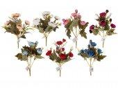 Yapay Çiçek Pastel Renkler 5+3 Gonca