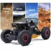 Rock Crawler Off Road Metal Gövde 2.4ghz 4x4 Buggy Dağda Çölde