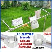 Takas Yuvarlak Küpeşte Alüminyum Balkon Çamaşır Kurutma Askısı