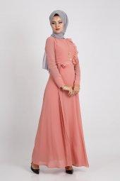 Loreen Kadın Gül Elbise 22089