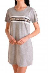 Kadın Tunik Ev Elbisesi Kısa Kollu