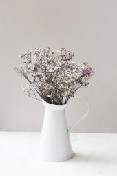 Morlu Beyazlı Yapay Cipso Çiçek