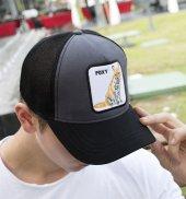 Deepsea Çerçeveli Tilki Desen Ayarlanabilir Boyut Fileli Şapka 1908791