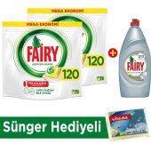 Fairy Hba Bulaşık Kapsülü 240 Yıkama+platinum Sıvı 870 Ml+sünger
