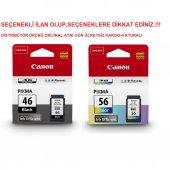 Canon Pg 46 Cl 56 E404 E414 E464 E484 Siyah...